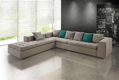 sofas em l sof 225 graurw canto em l suede marrom sala