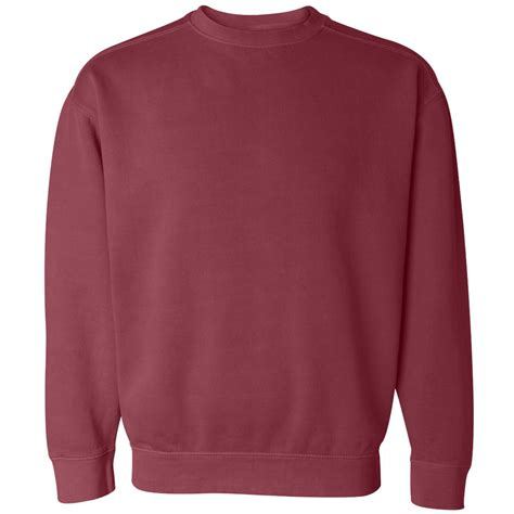 comfort colors crimson comfort colors 1566 garment dyed ringspun crewneck