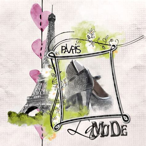 "Digital kit ""Romance in Paris"" by download 