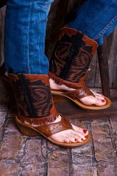cowboy boots sandals boot sandals i gotta get me one of these