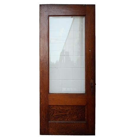 Vintage Exterior Doors Antique Stained Oak Exterior Door With Beveled Glass 36 X 84 Ned61 For Sale Antiques
