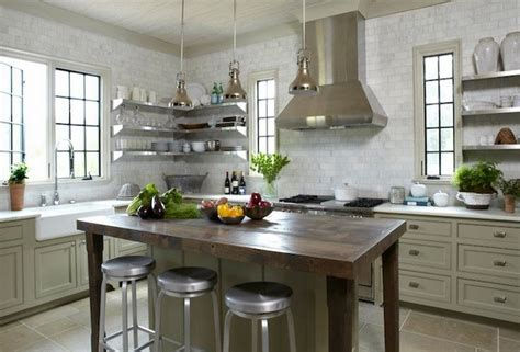 Ideas For Shelves In Kitchen add sleek shine to your kitchen with stainless steel shelves
