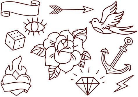 old school tattoo outlines 49 old school tattoo designs
