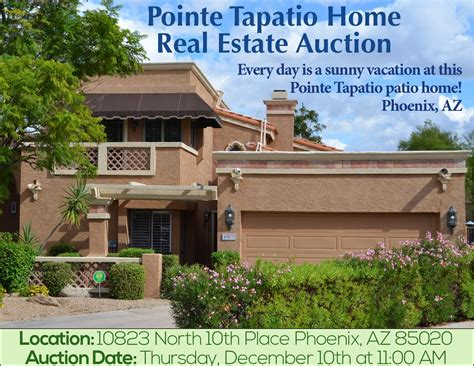 pointe tapatio home real estate auction by american