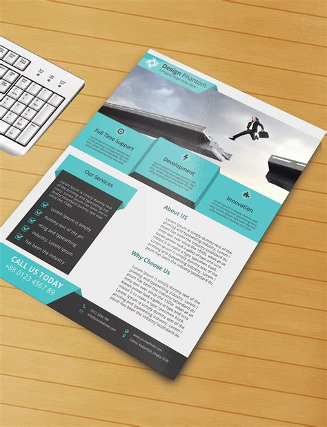 free brochure templates psd free flyer psd template free by designphantom