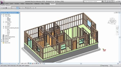revit wood framing walls extension cadclip