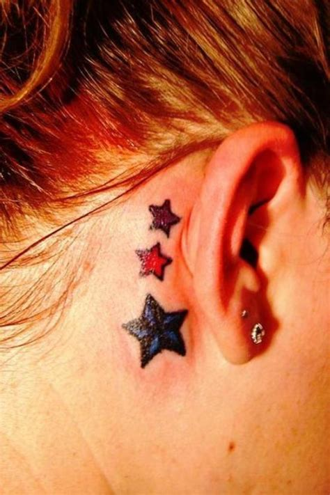 star tattoos behind ear designs 20 sparkling exles of star tattoos inspirebee