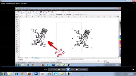 corel draw x6 to x4 converter quickly convert image to vector in corel draw youtube