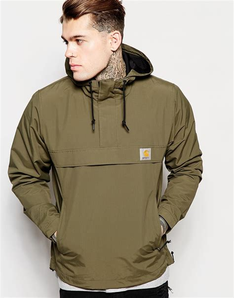 Sweater Carhart Roffico Cloth carhartt nimbus hooded pullover jacket in green for lyst