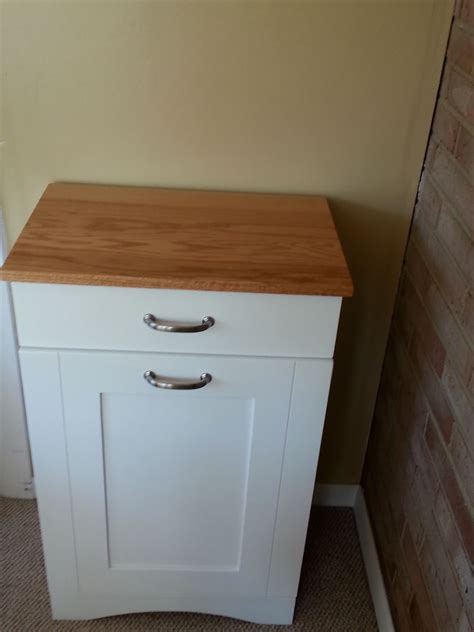 tilt out her cabinet double trash bin cabinet home ideas