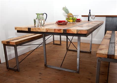 Trendy Dining Tables Lovely Decoration Wood Metal Dining Table Trendy Idea And Reclaimed Wood And Steel Outdoor