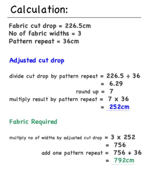 fabric pattern repeat calculator pencil pleat curtain how to calculate fabric quantities