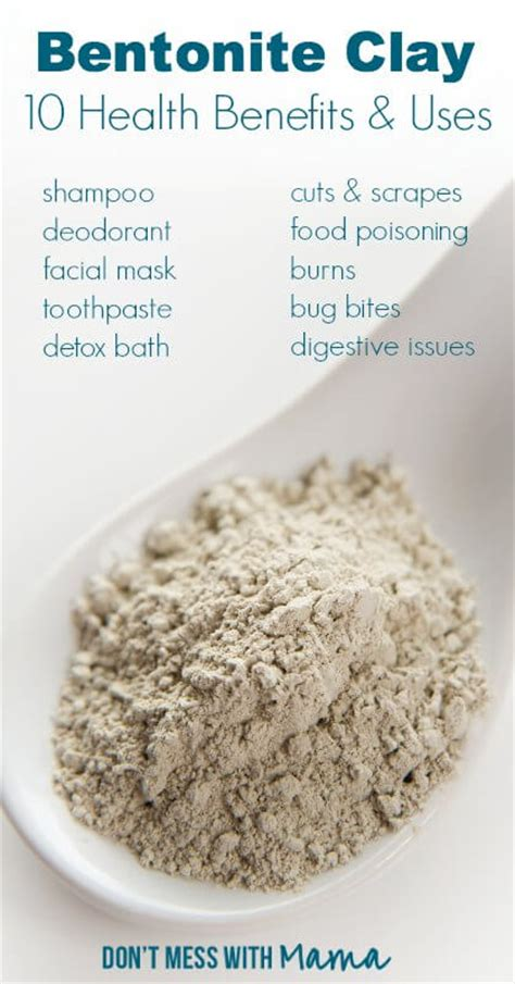 What Is Detox Bentonite Clay by 10 Healthy Uses For Bentonite Clay Powder Fruits And