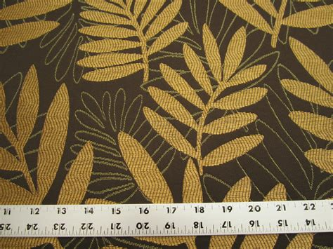 leaf upholstery fabric r9767 2 7 8 yards of leaf pattern upholstery fabric