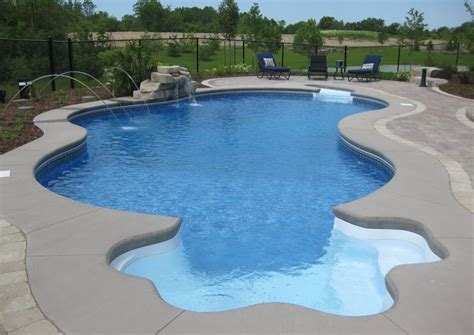 Swimming Pool Waterfalls Inground Fonthill St Catharines Inground Swimming Pool Designs