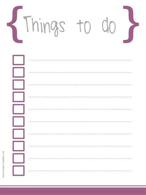 things to do list template pdf 5 printable to do list templates printable to do lists
