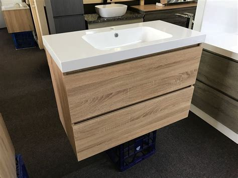 Slimline Vanity by Astra Slimline 900mm White Oak Timber Wood Grain Narrow
