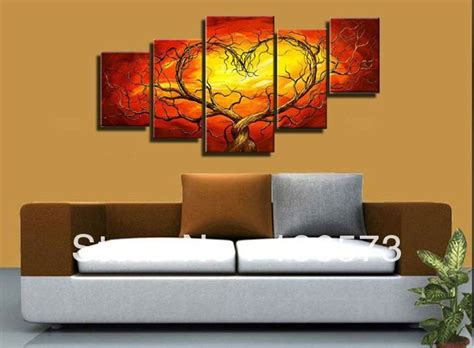 affordable wall murals aliexpress buy yellow tree canvas painting cheap wall
