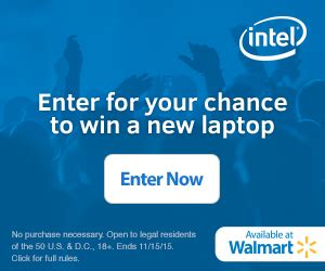 Intel Sweepstakes - enter to win the quot upgrade with intel quot sweepstakes