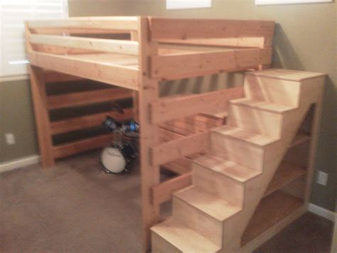 How To Build Bunk Bed Stairs Child Bunk Bed Stairs With Shelves Diy Pinterest