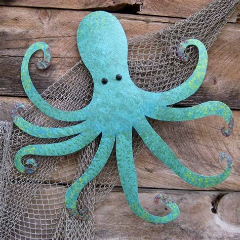 octopus decor buy a handmade large metal octopus wall sculpture ocean