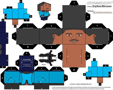 Cubee Papercraft - cubee lando calrissian by cyberdrone on deviantart