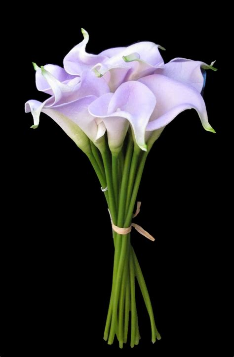 real touch small hand tied calla lily wedding bouquet in lavender 13 lily wedding bouquets