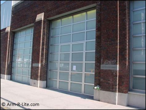 Frosted Glass Garage Doors Gagosian Glass Garage Doors By Arm R Lite With Frosted Glass Sections Museum And Gallery
