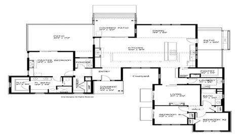 contemporary house plans modern single story house plans