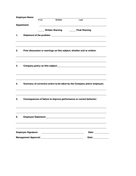employee disciplinary write up template best photos of disciplinary write up forms for employees