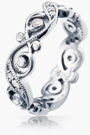 Wedding Rings Infinity Band by Unique Wedding Rings For