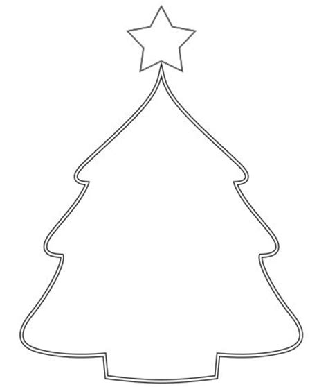 blank christmas tree color page christmas in k pinterest