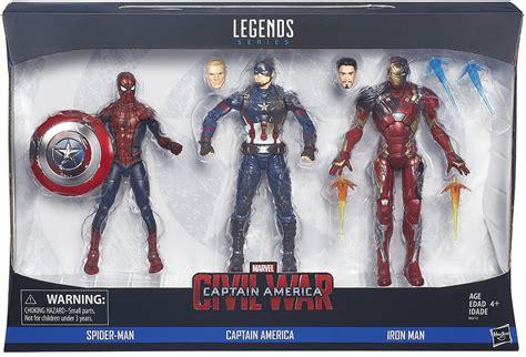 Figure Iron Captain America spider captain america iron marvel legends