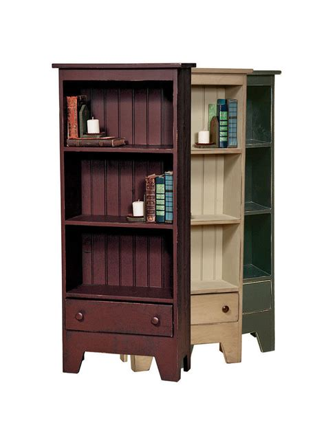 Handmade Bookcases - book w drawer amish handmade repurposed country