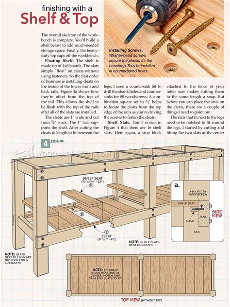 heavy duty work bench plans 2381 heavy duty workbench plans workshop solutions