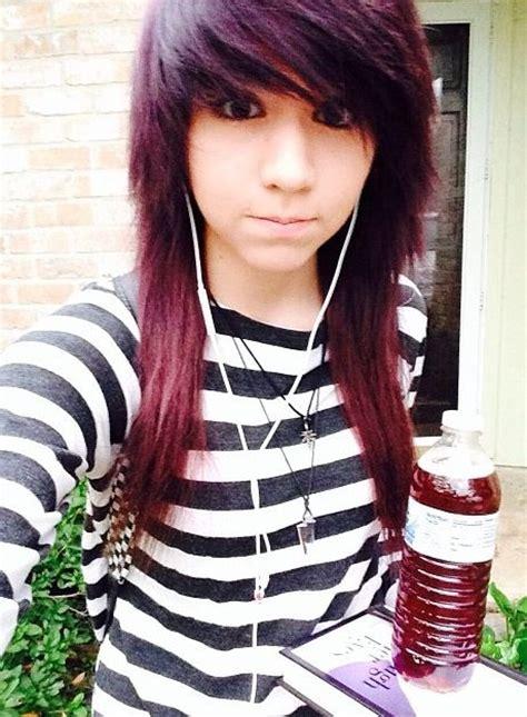 emo hairstyles burgundy scene hair hair and scene on pinterest