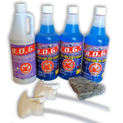 rog bathtub cleaner rog3 kit 1 bathtub and shower cleaner rog3 cleaner