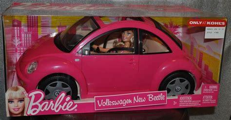 barbie volkswagen barbie volkswagen vw beetle car and doll set pink