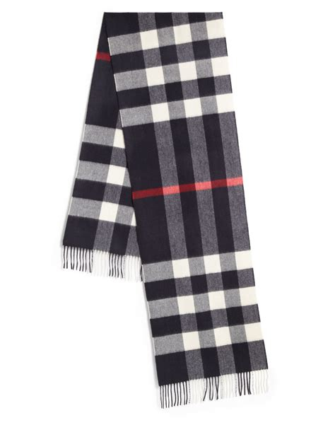 burberry check scarf in blue for save 2 lyst
