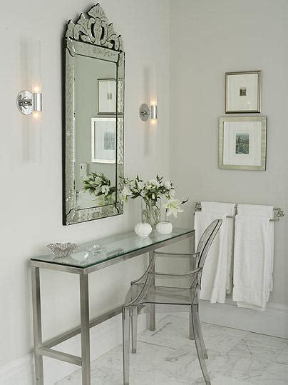 Venetian Mirror Bathroom Venetian Mirror Traditional Bathroom Farrow Mirage Gray Richardson Design