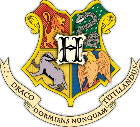 Hogwarts Logo Outline by File Hogwarts Coat Of Arms Colored With Shading Svg Wikimedia Commons