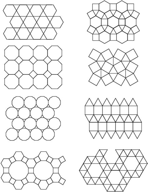 tessellating shapes templates free coloring pages of irregular polygon