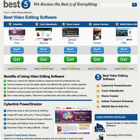 Best 2014 Video Editing Software is Ranked at Best 5