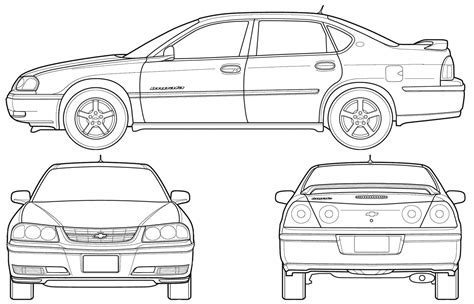 how to draw a malibu boat chevrolet impala 2005 blueprint download free blueprint