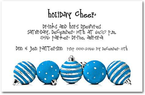 silver blue ornaments holiday invitations christmas