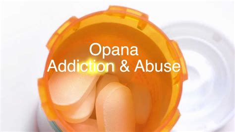 How To Detox From Opana opana addiction and opana abuse