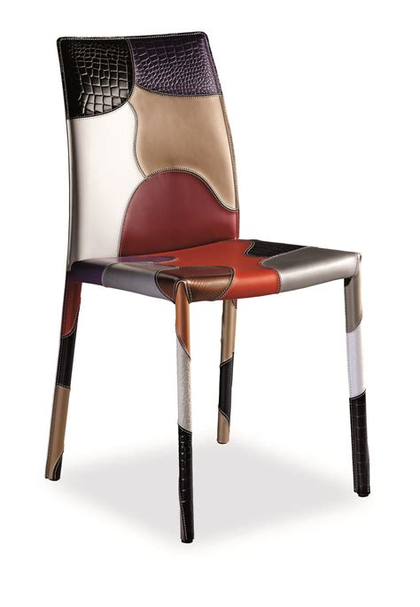 tavoli e sedie offerte on line patchwork sedia in cuoio italy design