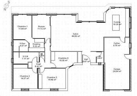 plan maison 1000 ideas about plan maison plain pied on