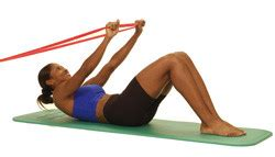 thera band abdominal crunch in supine performance health
