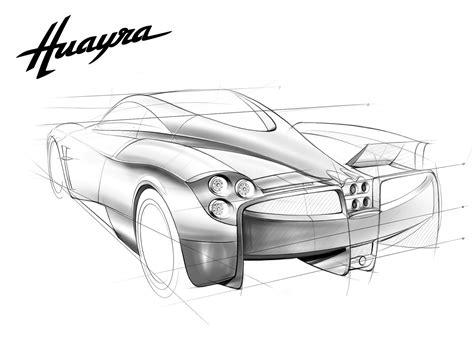 Pagani's HUAYRA Sketches!